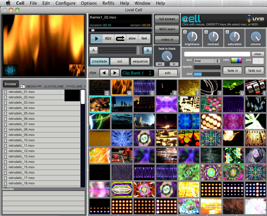 Cell VJ Software