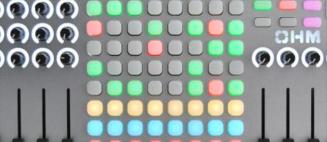 Detalle botones colores OhmRGB