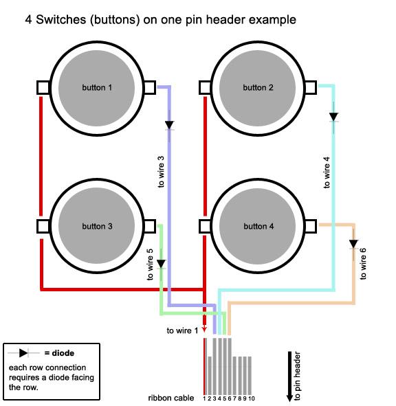 led arcade button wiring diagram